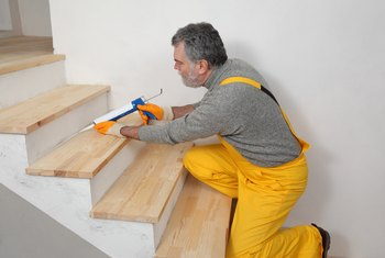 How to Install Wood Stair Treads Without Showing Nail Holes