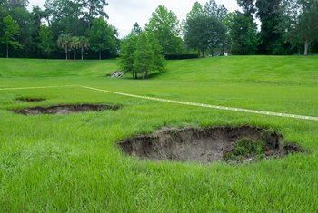 How to Repair Sinkholes in the Backyard