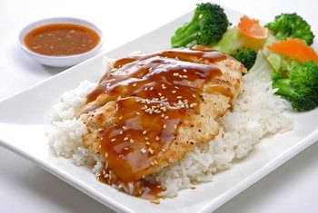 How Much Sugar and Carbs in Teriyaki Chicken & Rice?