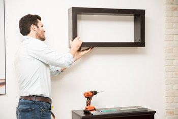 How to Install a Heavy Shelf to Drywall With Brackets