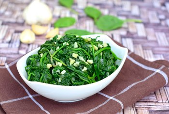 A half-cup of cooked spinach contains 17 percent of your daily iron needs.