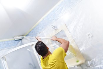 How to Fix Peeling Paint on the Bathroom Wall & Ceiling
