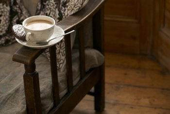 Tea and a cup of coffee is a tasty tea room menu choice.