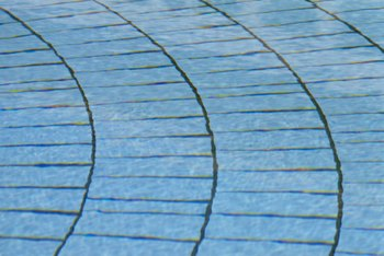 Pavers can be used to make decorative walkways and patios.