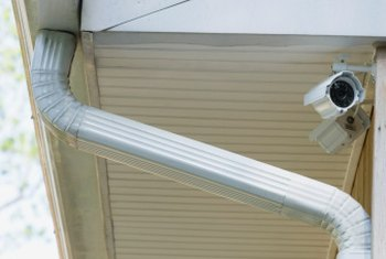 Slip joints provide a stable connection for lengths of rain gutter.