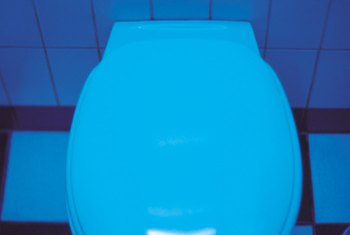 Blue in various hues was a reigning color in 1960s American Standard toilets.