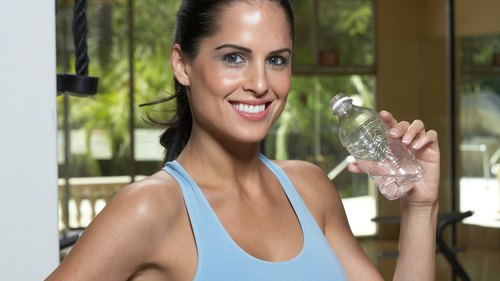 <p>Drinking water will help replenish the fluids you lose while you run.</p>