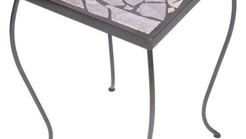 <p>Use a wrought iron accent table to display tabletop accessories.</p>
