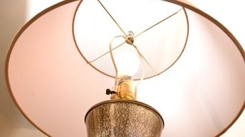 <p>Clean your entire lampshade to remove a water spot.</p>