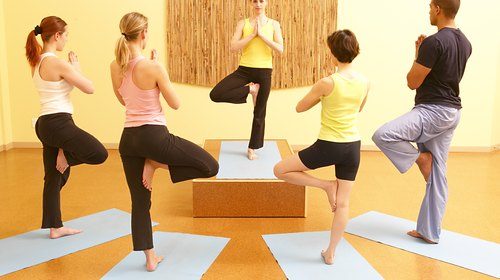 <p>Yoga poses are based on your level of experience.</p>