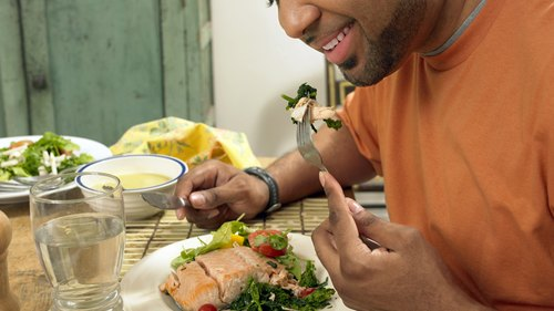 <p>A balanced and healthy diet is a big part of developing a strong body.</p>