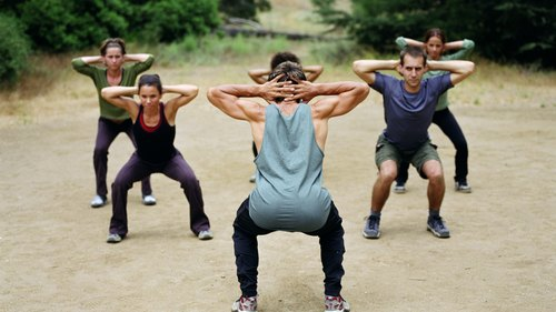 <p>Squats target areas of cellulite formation by building leg muscle.</p>