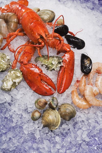 Shellfish contain relatively high levels of cholesterol.