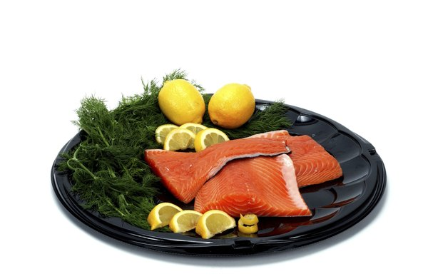 Salmon contains the same amount of protein per serving as lean beef.