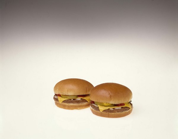 Mini cheeseburgers are low in fat when made with 95-percent lean ground beef.