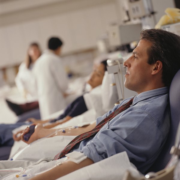 Caffeine can dehydrate you before you donate blood.