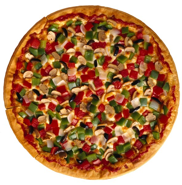 Vegetable pizza can be quite nutritious.