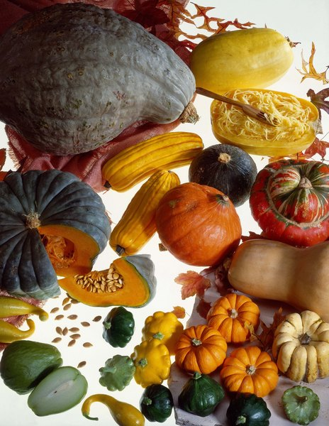 Winter squash is a good source of both soluble and insoluble fiber.