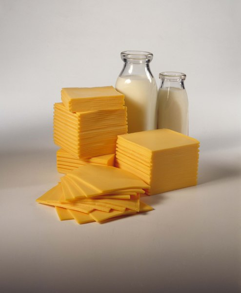 A slice of American cheese contains about one-third of the calcium you need each day.