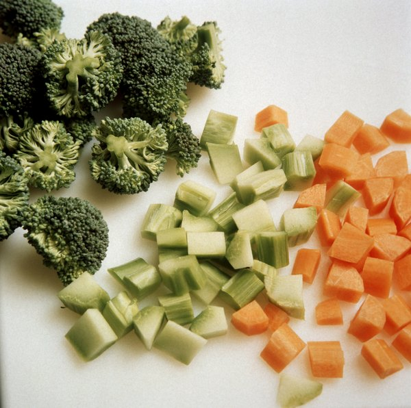 A cup of chopped broccoli supplies dietary fiber.
