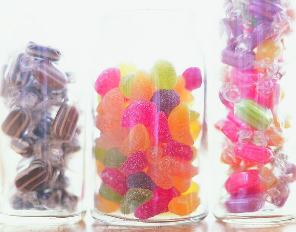 Most carbohydrates in a hard candy come from sugar.