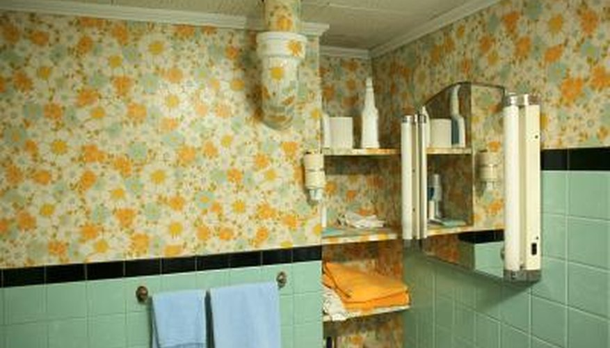 How To Repaint A Bathroom With Old And Peeling Wallpaper Home Guides Sf Gate,Pink Pinterest Baby Shower Decorations
